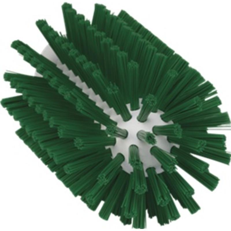 Vikan Pijpborstel, steelmodel, ø77 mm, medium, groen