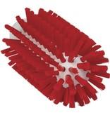 Vikan Vikan Pijpborstel, steelmodel, ø63 mm, hard, rood