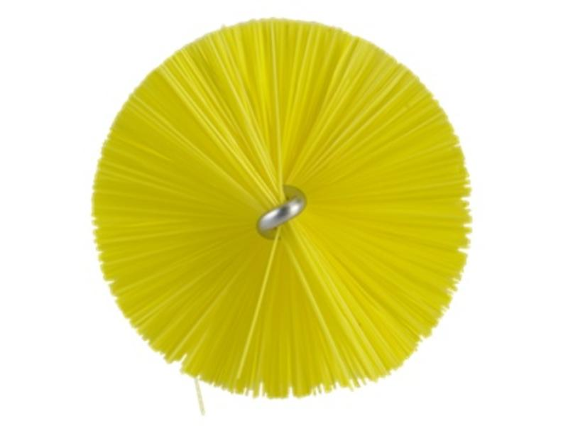 Vikan Vikan Pijpenborstel met handvat, 40 mm, medium, geel