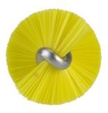 Vikan Vikan Pijpenborstel met handvat, 20 mm, medium, geel