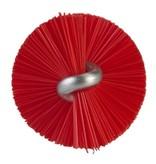Vikan Vikan Pijpenborstel met handvat, 20 mm, medium, rood
