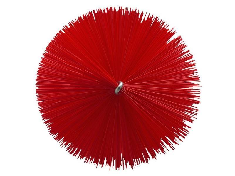 Vikan Vikan Pijpenborstel Ø90x200mm, Medium, rood