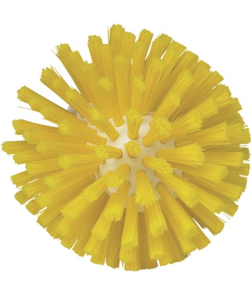 Vikan, Wormhuisborstelkop, medium Ø135x130mm, geel