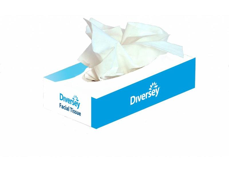 Johnson Diversey Facial Tissue Puur Cellulose (2 laags)