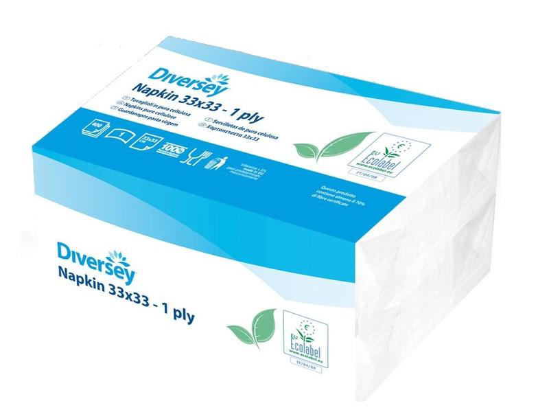 Johnson Diversey Servetten Puur Cellulose (1 laags)