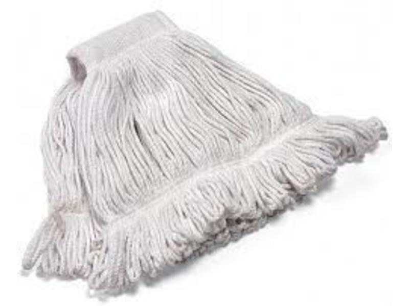 Eigen merk Strengenmop katoen met band gesneden - 350 gram