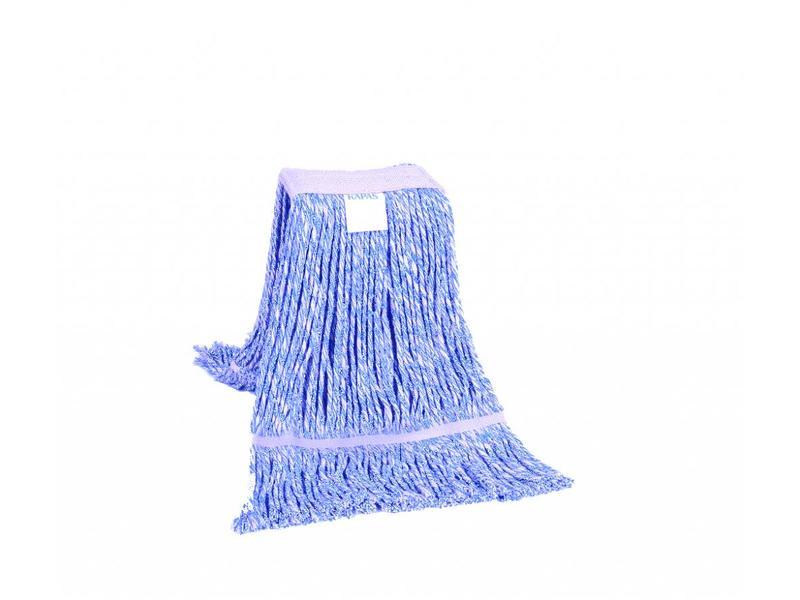 Eigen merk Strengenmop katoen blauw/wit - 350 gram