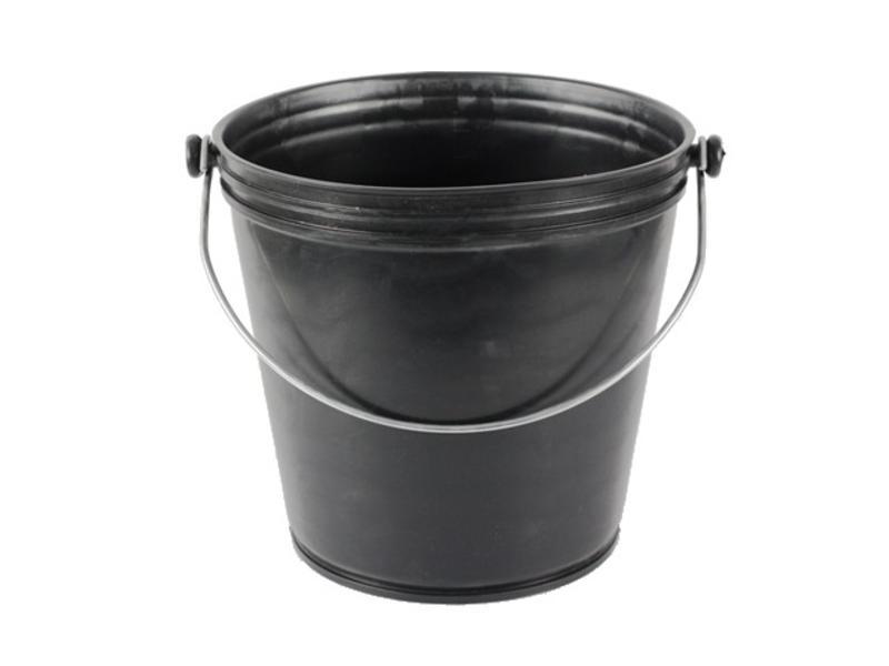 Eigen merk Glazenwassersemmer (industrieel) zwaar hoog model kleur zwart