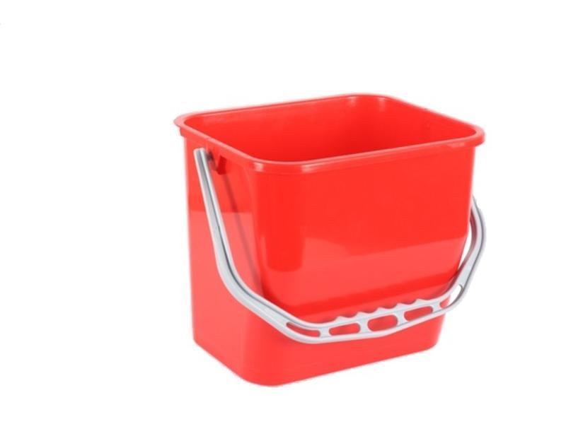Eigen merk Materiaalwagenemmer rood - 6 liter