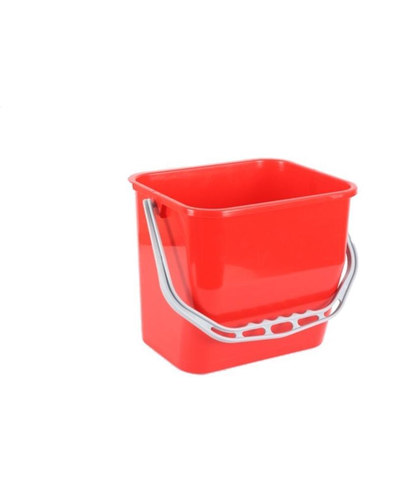 Materiaalwagenemmer rood - 6 liter