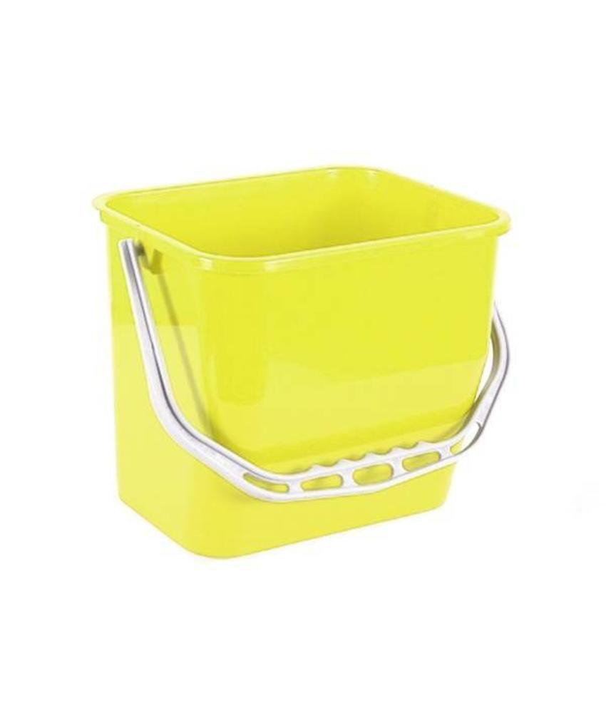 Materiaalwagenemmer geel - 6 liter