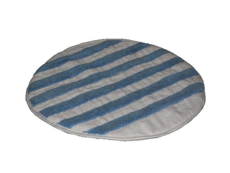 Eigen merk Bonnetpad microvezel/katoen blauw/wit