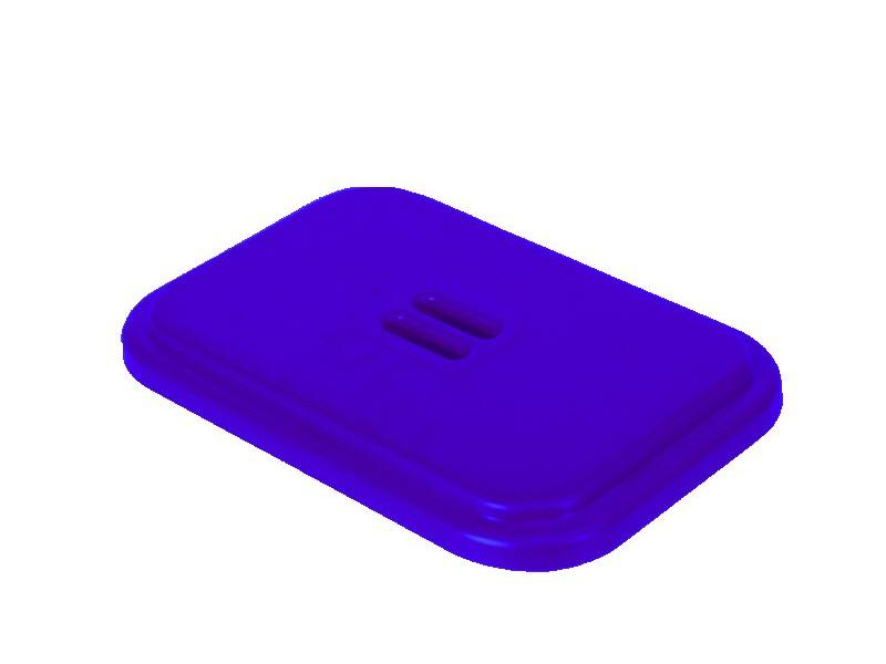 Eigen merk Deksel voor afvalzakhouder 120 liter enkel - Blauw