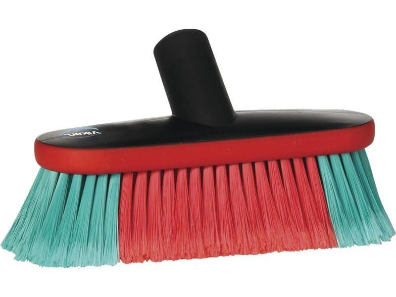 Vikan Ovale autowasborstel met watertoevoer, 23 cm breed