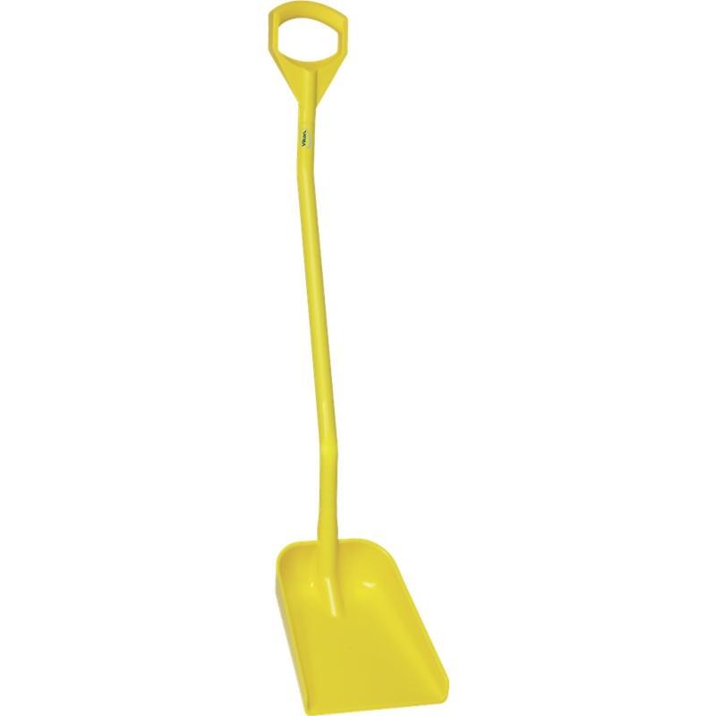 Vikan, Ergonomische schop, lange steel 1300mm, klein blad, geel