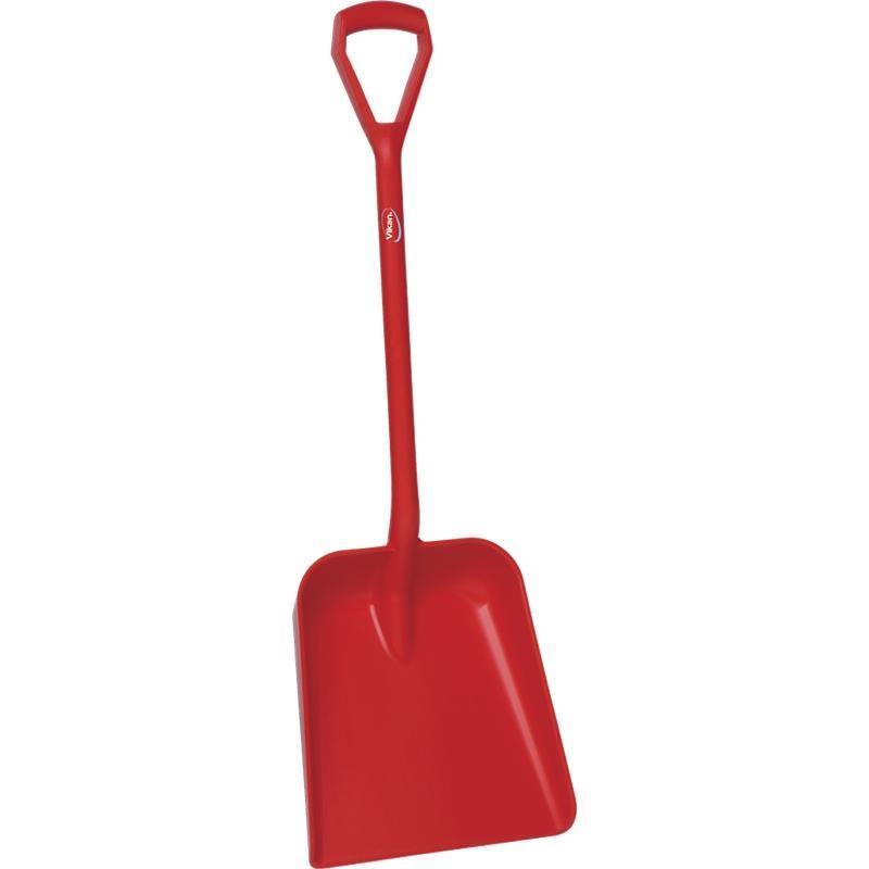 Vikan, Lichtgewicht schop D-greep, korte steel 1035 mm, rood