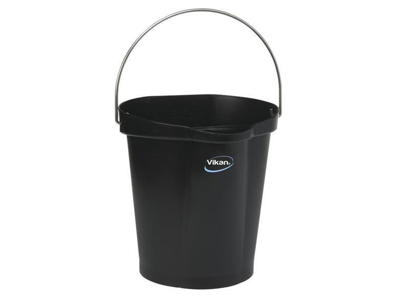 Vikan Vikan, Emmer 12 liter, zwart