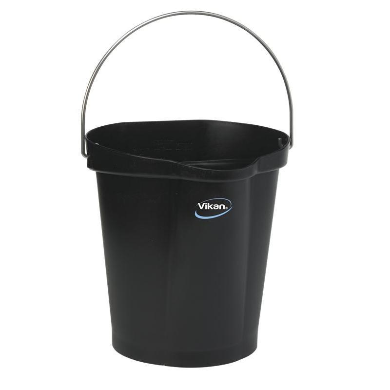 Vikan, Emmer 12 liter, zwart