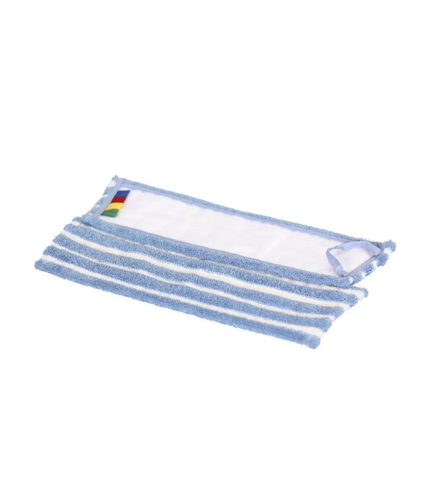Microvezel-combi blauw/wit met velcro