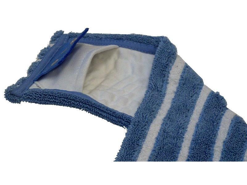 Eigen merk Microvezel-combi blauw/wit met insteekhoezen