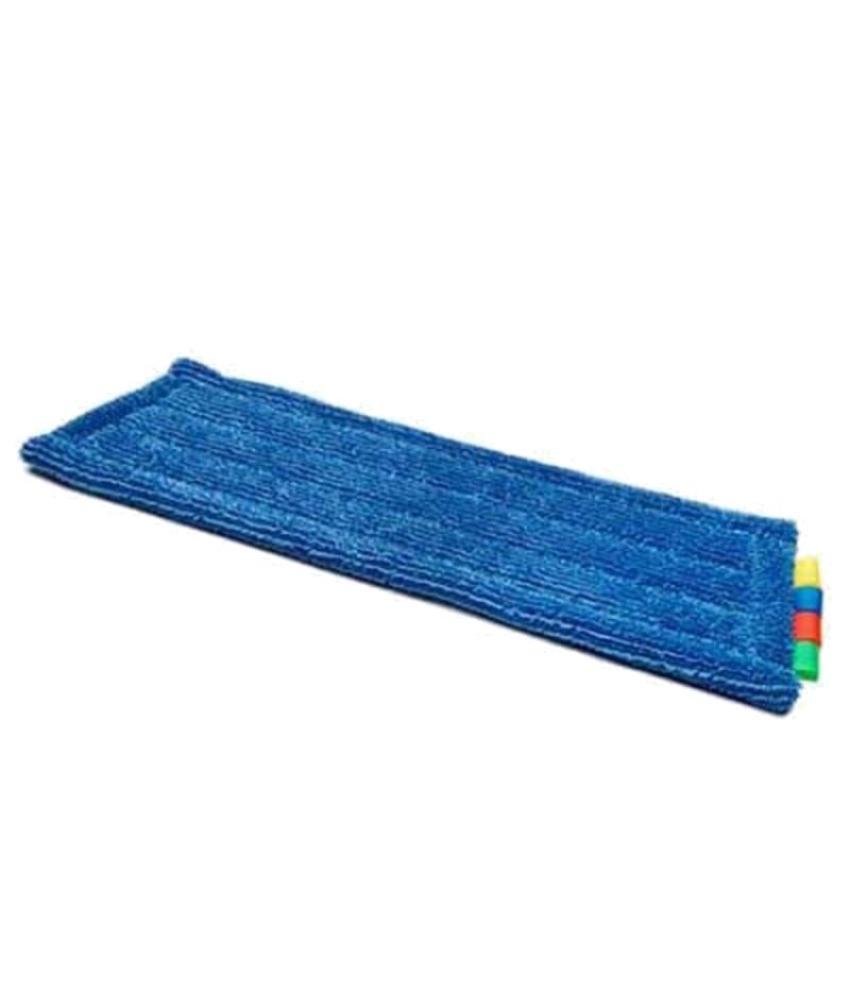 Microvezel blauw pockets en flap met 2 ringen