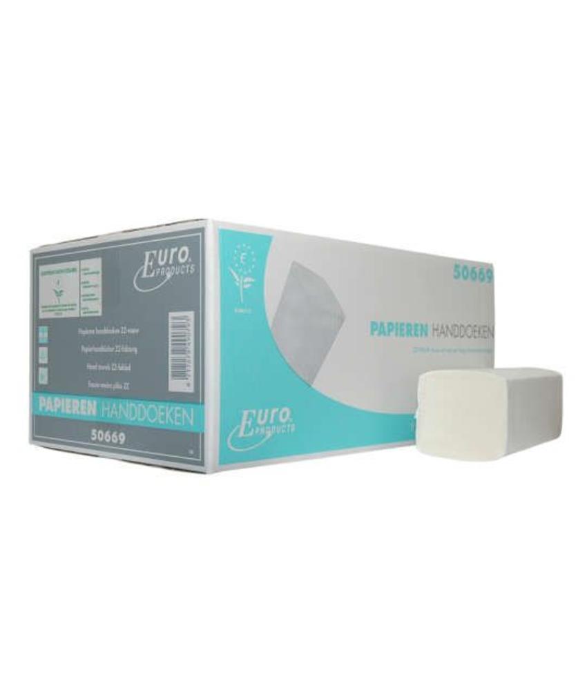 Vouwhanddoekjes tissue wit Z-vouw, 2 laags