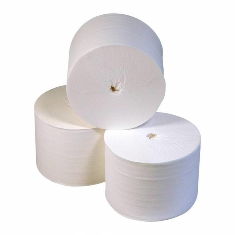 Toiletpapier Kokerloos, 2-laags, cellulose wit, 900 vel, 36 rollen