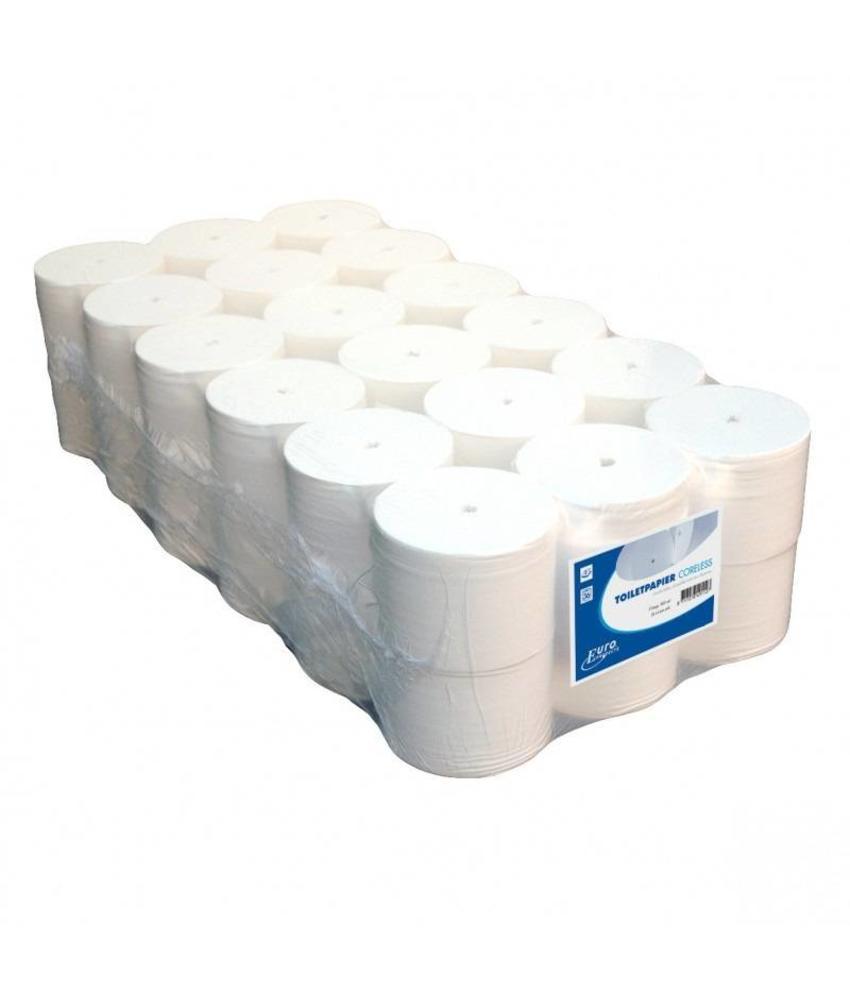 Tioletpapier Euro coreless, 2-laags