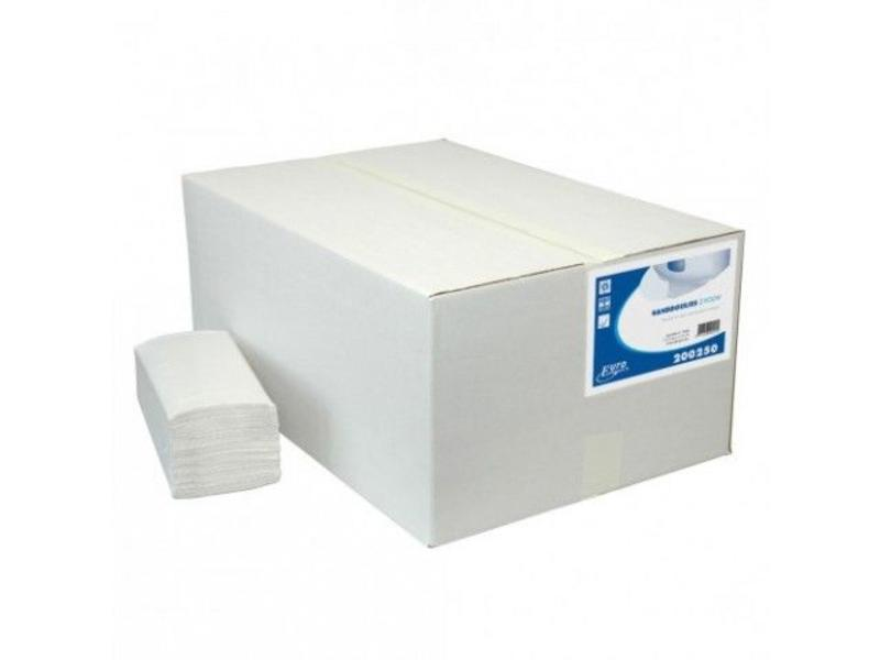 Euro Products Vouwhanddoekjes Recycled wit Z-vouw, 1 laags