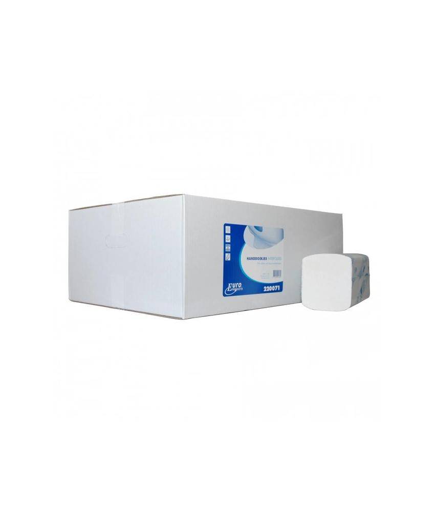 Vouwhanddoekjes Euro Interfold cellulose, 2 laags