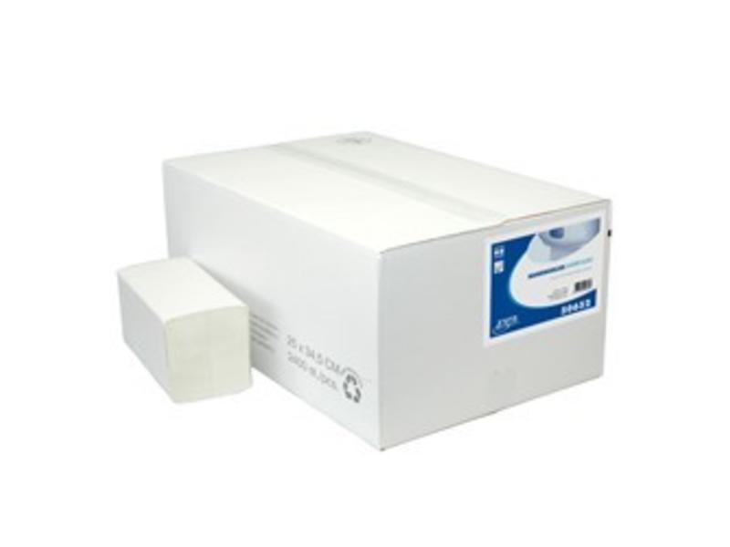 Euro Products Vouwhanddoekjes Euro Interfold tissue wit, 2 laags