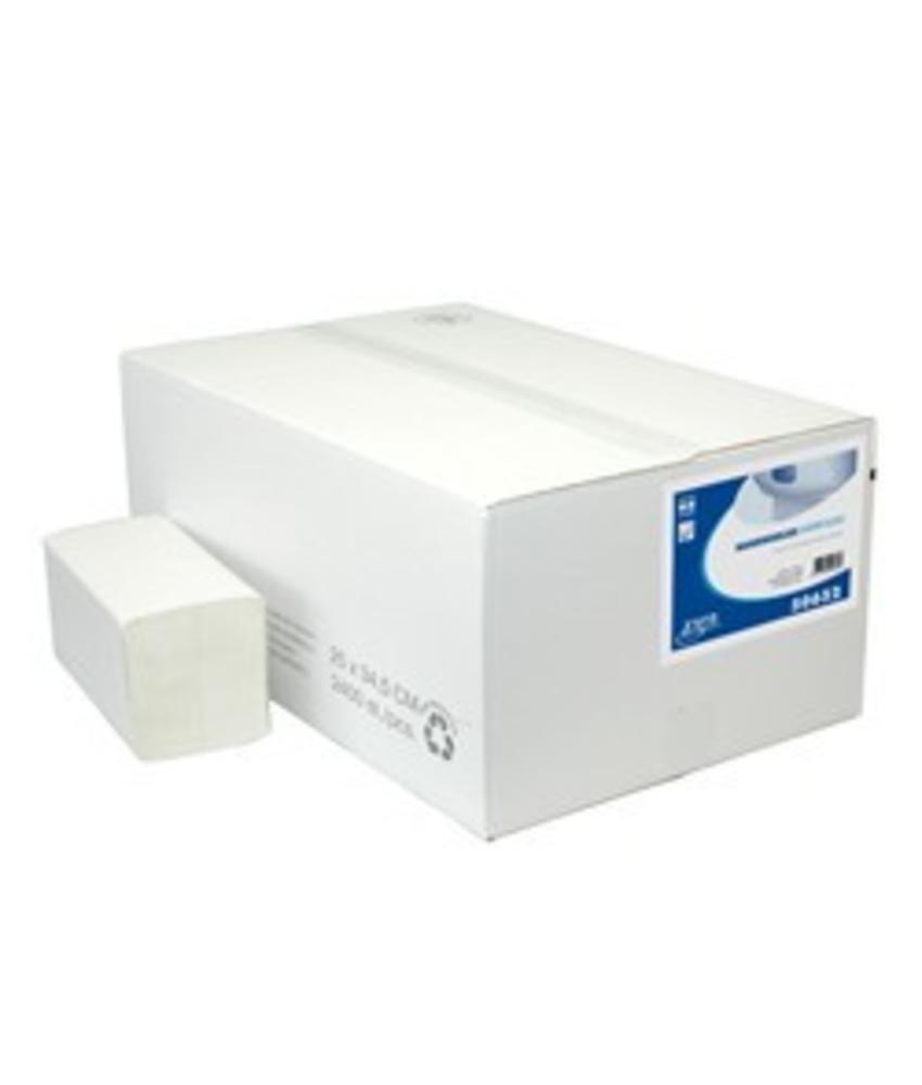 Vouwhanddoekjes Euro Interfold tissue wit, 2 laags
