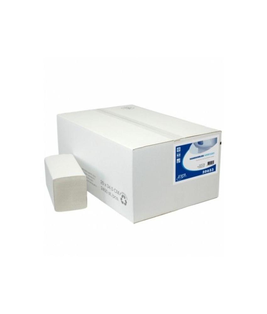 Vouwhanddoekjes Euro Interfold recycled tissue, 2 laags