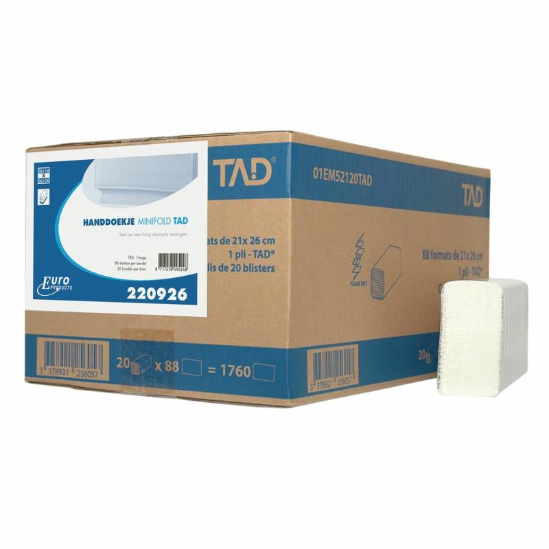 Euro Products 2 laags Vouwhanddoekjes Euro Minifold cellulose