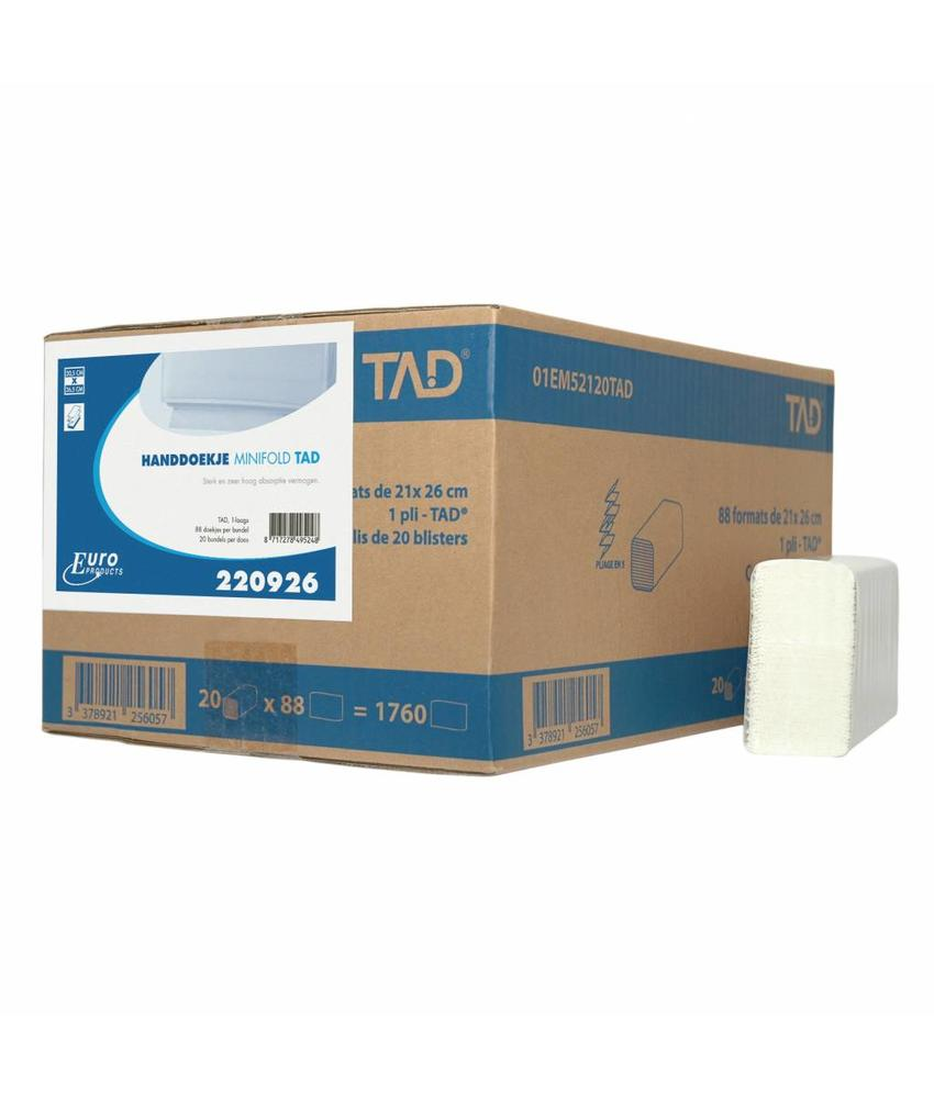 Vouwhanddoekjes Euro Minifold cellulose, 2 laags