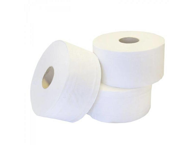 Eigen merk Toiletpapier Jumbo Mini, 12x 180M, 2-laags, cellulose, wit
