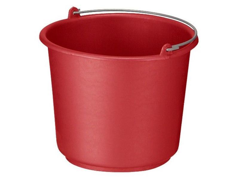Eigen merk Bouw/glazenwassersemmer rood