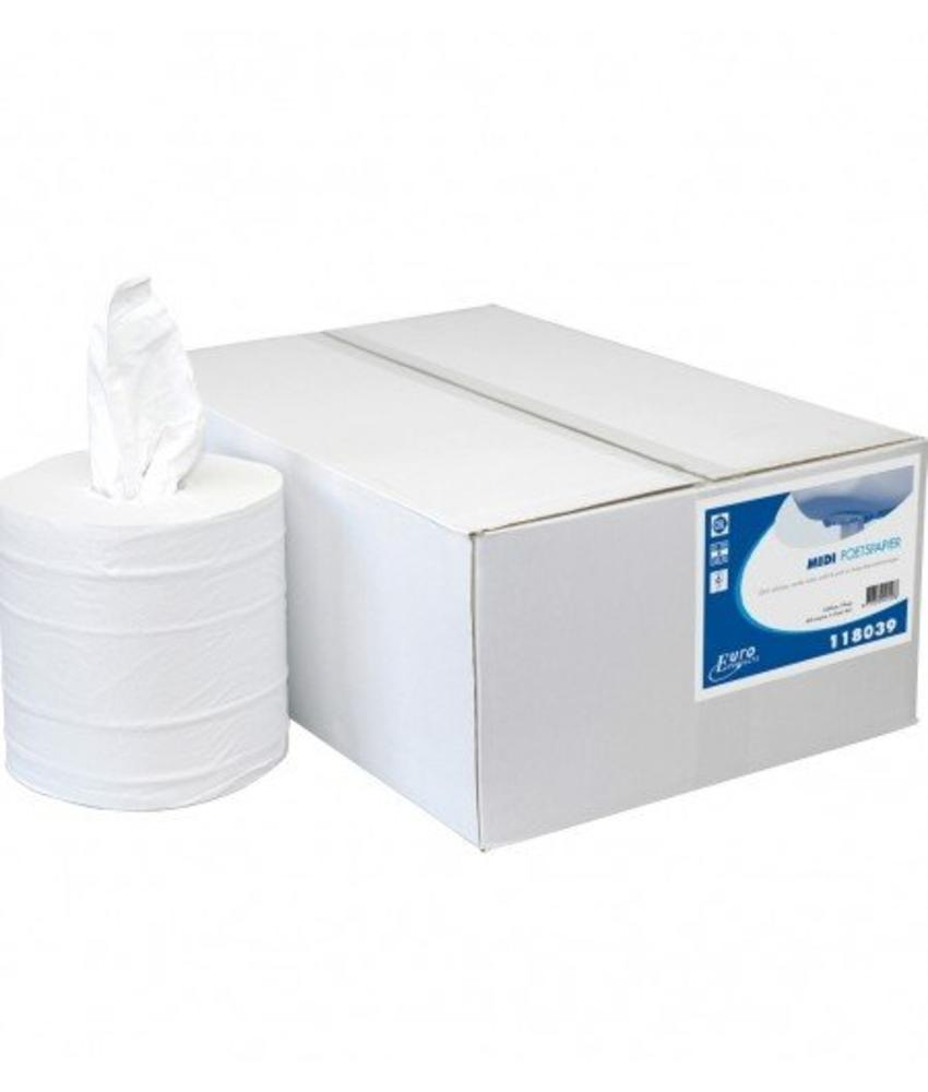 Euro Products 2-laags Midi poetspapier Cellulose kokerloos