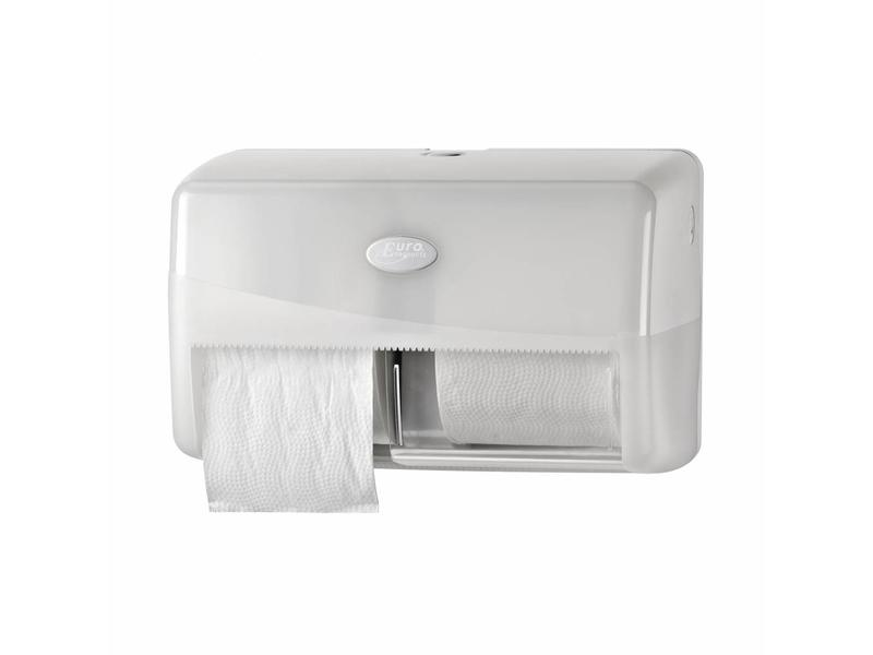 Euro Products Pearl White Duo toiletrolhouder - Compact, traditioneel