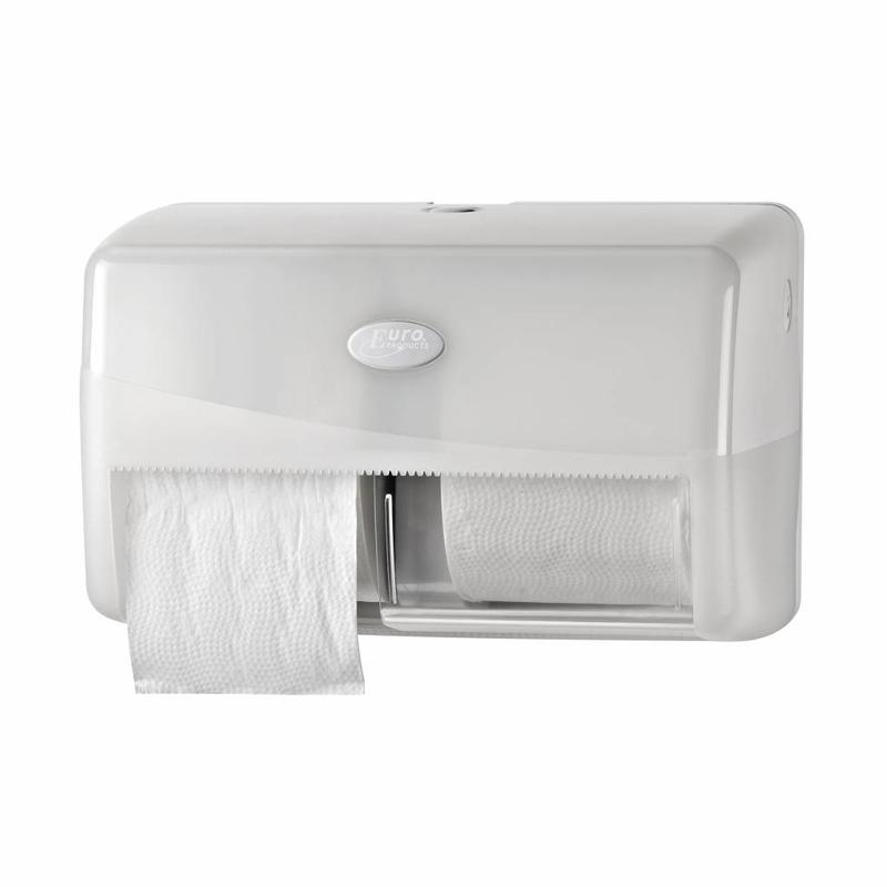 Pearl White Duo toiletrolhouder - Compact, traditioneel