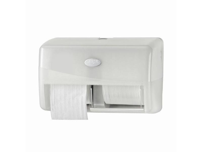 Euro Products Euro Products Pearl White Duo toiletrolhouder - Coreless