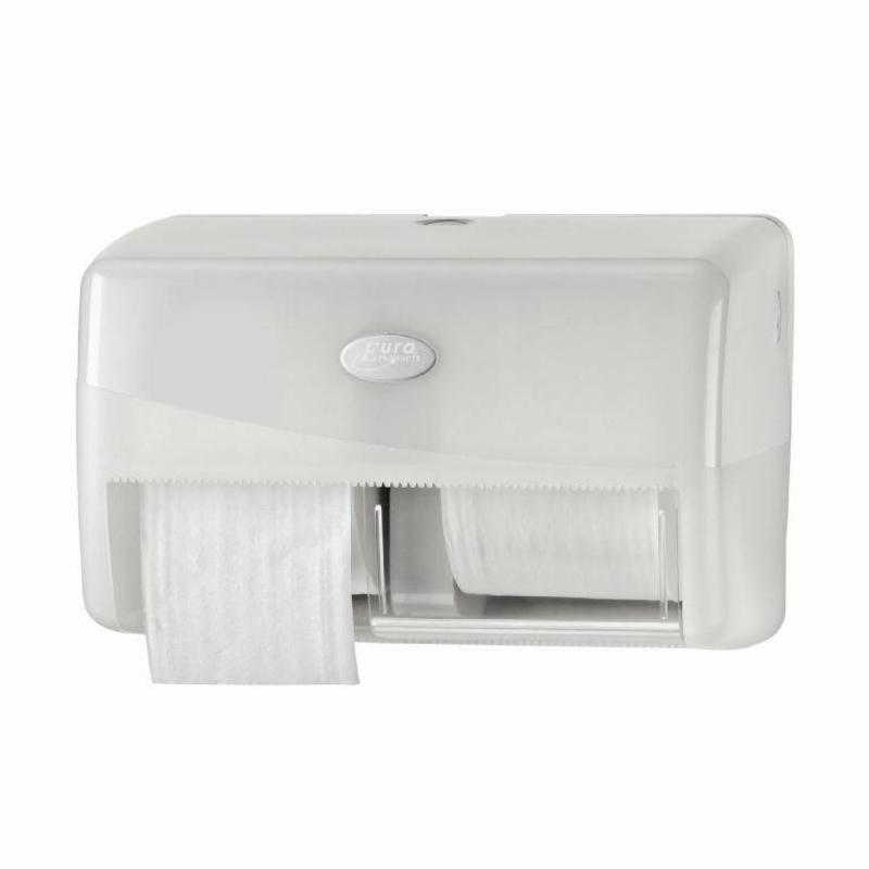 Euro Products Pearl White Duo toiletrolhouder - Coreless