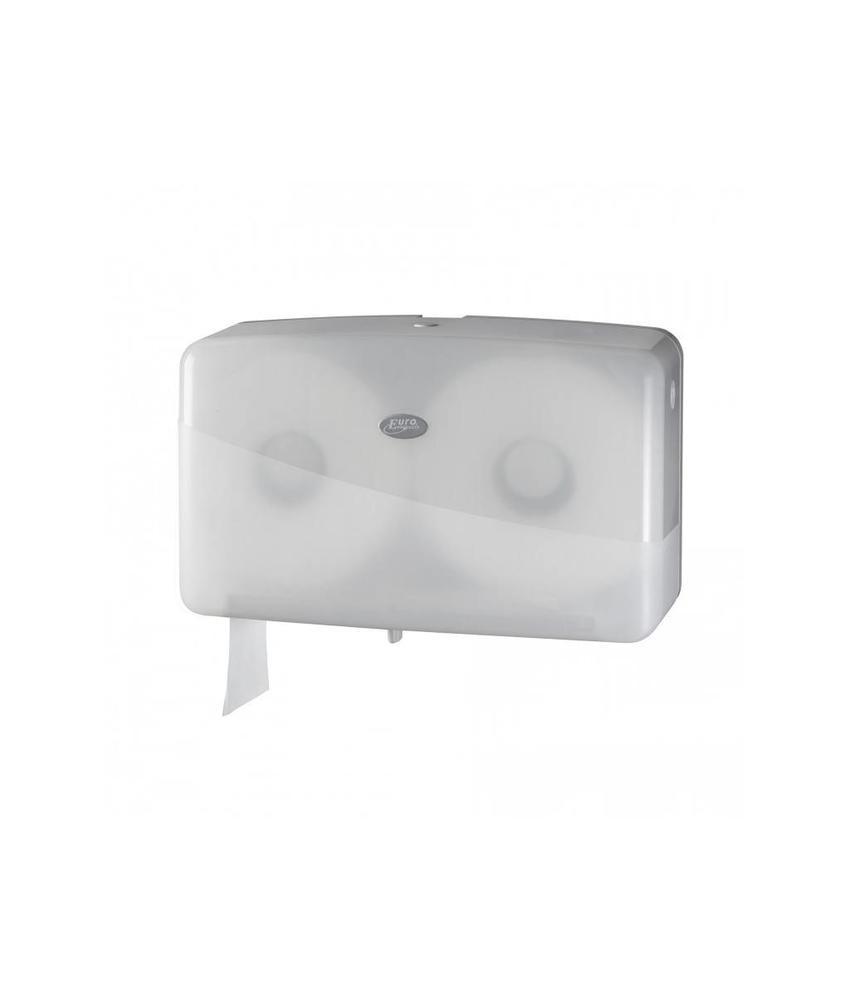 Euro Products Pearl White Jumbo toiletrolhouder - Duo mini