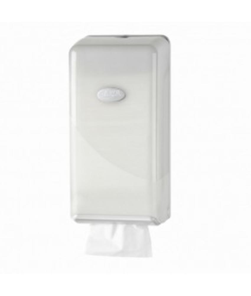 Euro Products Pearl White Toilerpapier dispenser - Bulkpack