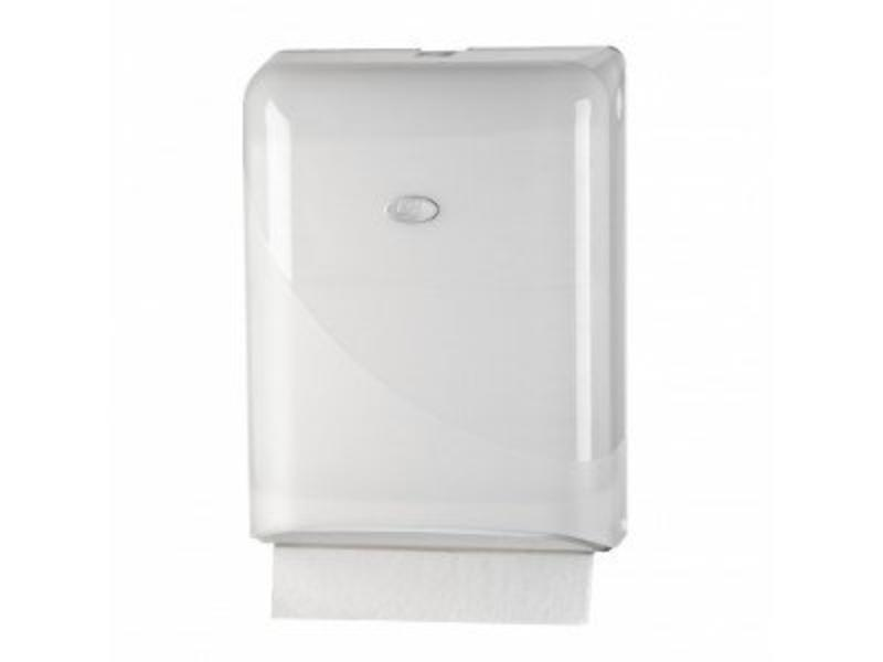Euro Products Pearl White Handdoekdispenser - Interfold, Z-fold