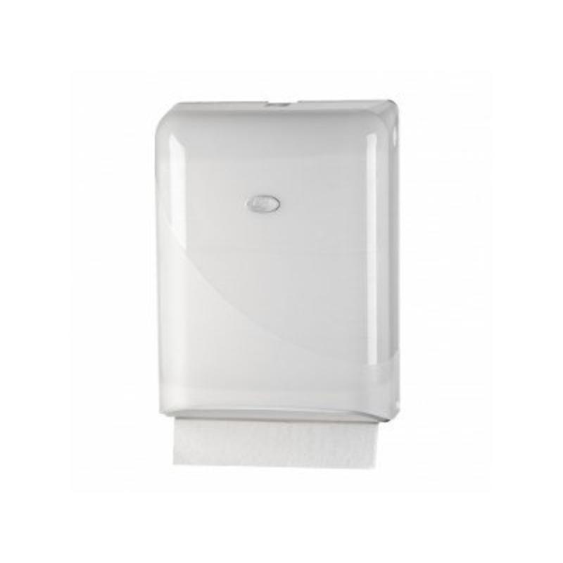 Pearl White Handdoekdispenser - Interfold, Z-fold
