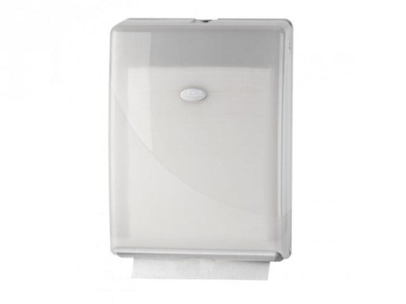 Euro Products Pearl White Handdoekdispenser - Multifold, C-fold