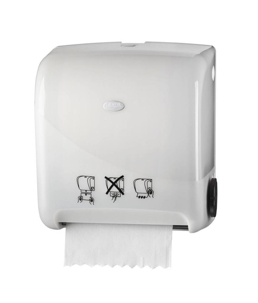 Pearl White Handdoekautomaat - Autocut Euro Matic