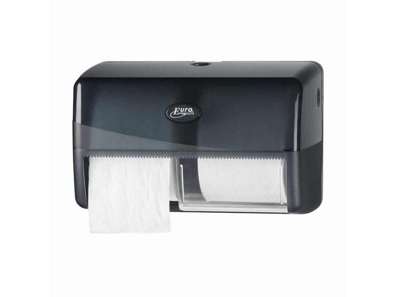 Euro Products Pearl Black Duo toiletrolhouder - Compact, traditioneel