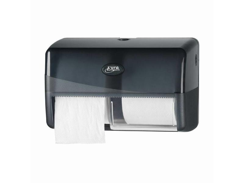 Euro Products Euro Products Pearl Black Duo toiletrolhouder - Coreless